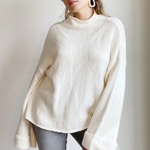 ANTHROPOLOGIE MOTH Wide Sleeve Cream Sweater